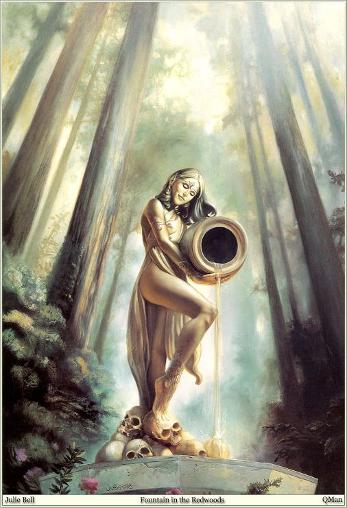 Julie Bell: Fountain In The Redwoods