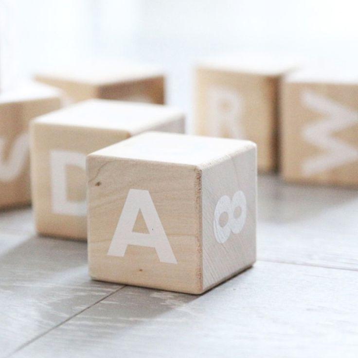 Alfabet Blokken Wit
