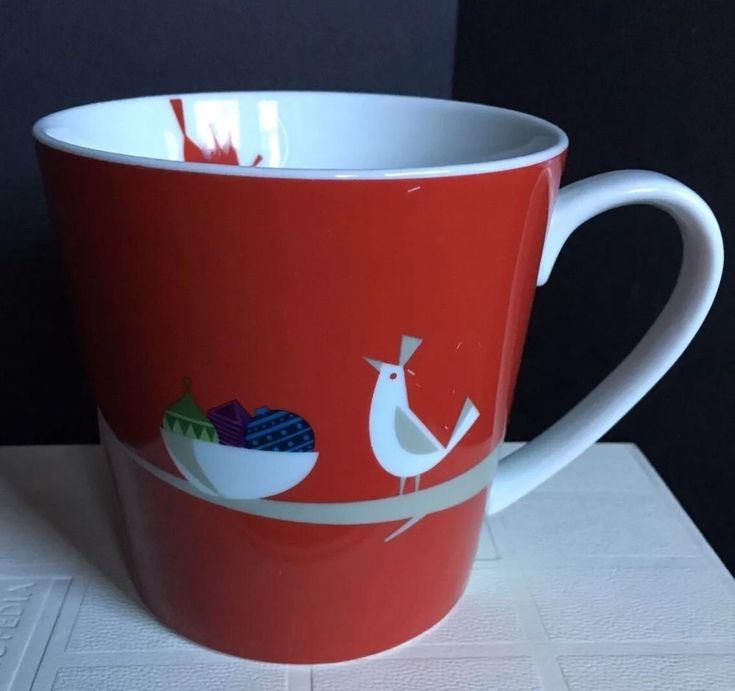 Starbucks 2011 Holiday Red Partridge Bird Christmas Ornament Mug 16oz    eBay