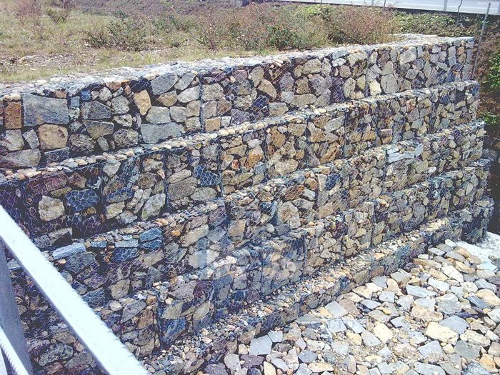 unbelievable curved gabion wall. KS 27 System 10 degrees Customized PVC Coated Galvanized Gabion  20 best Retaining wall images on Pinterest Landscaping