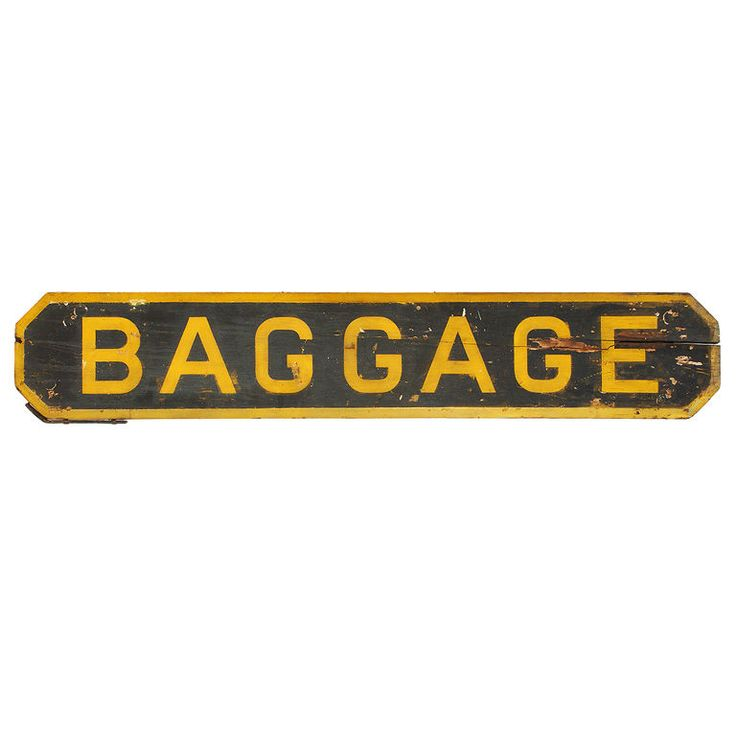 C 1900 Railroad Station Baggage Sign American C 1900 A