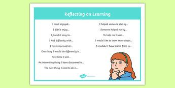 Reflecting on Learning Discussion Prompt Word Mat-Australia