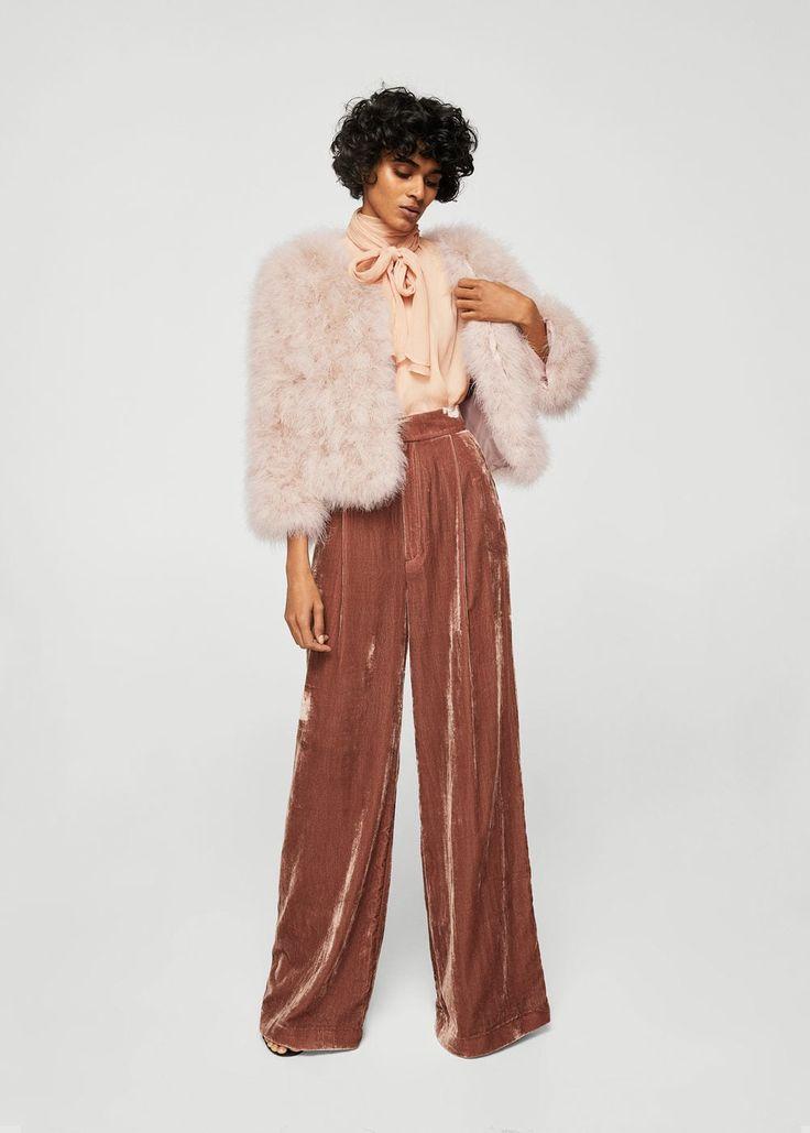 Pockets feather coat | MANGO