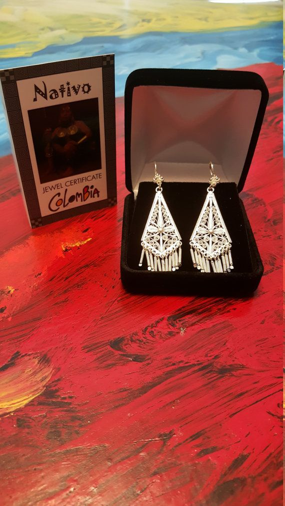 Filigree Handmade earrings  from Mompox Colombia by JEWERLYDesign