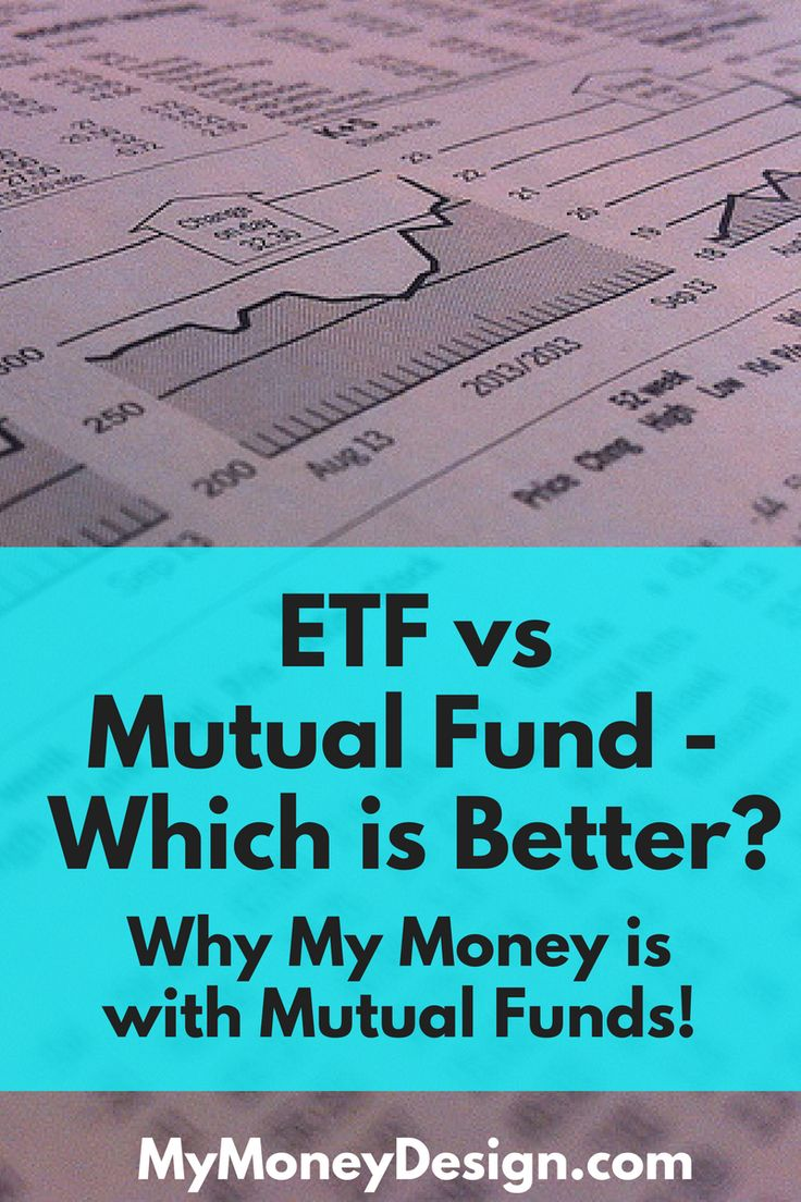 When it comes to planning for retirement and diversifying your investments, for most people the choice comes down to two main options – the ETF vs mutual fund. Ultimately between the two, I chose to go with mutual funds. And here's why. - MyMoneyDesign.com