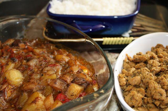Curry de légumes aux champignons et protéines de soja