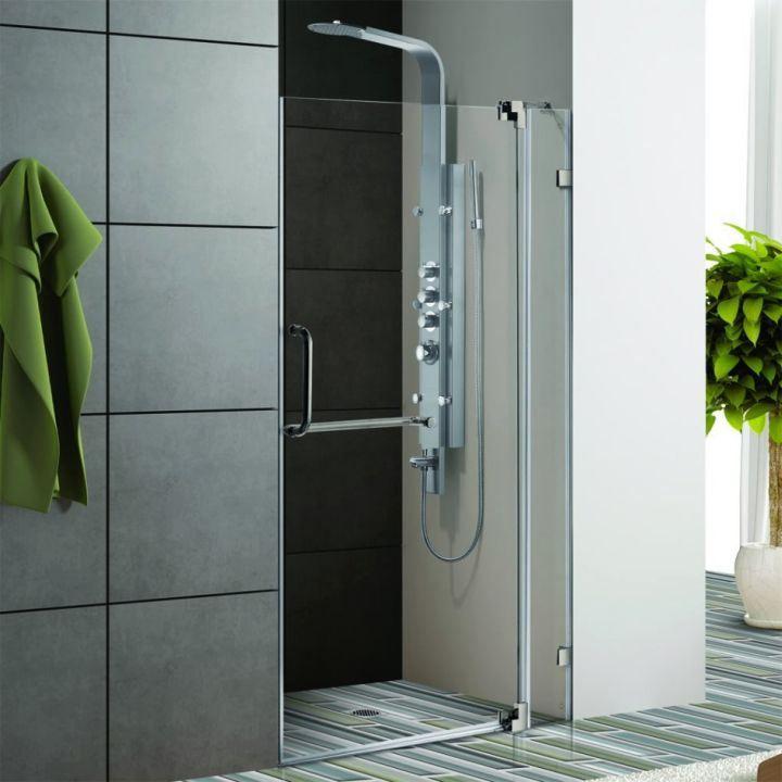 modern glass shower clear