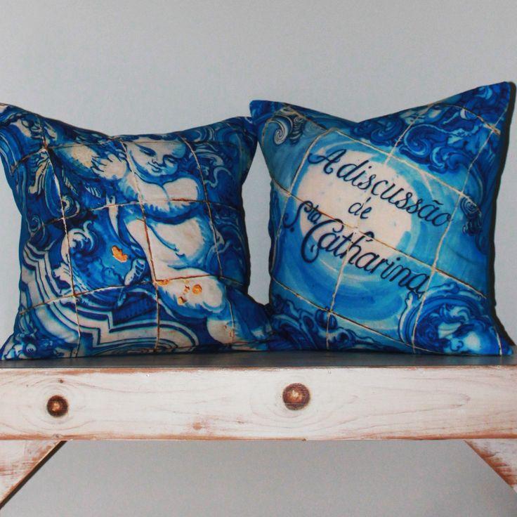 portuguese azulejos cushions www.etsy.com/ca/shop/CAYOCOCOCUSHIONS