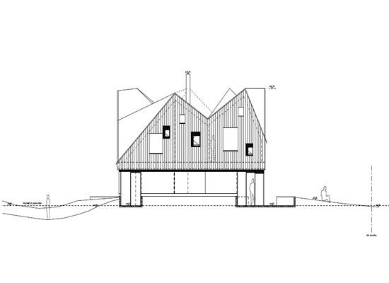 Great The Dune House | Elevation