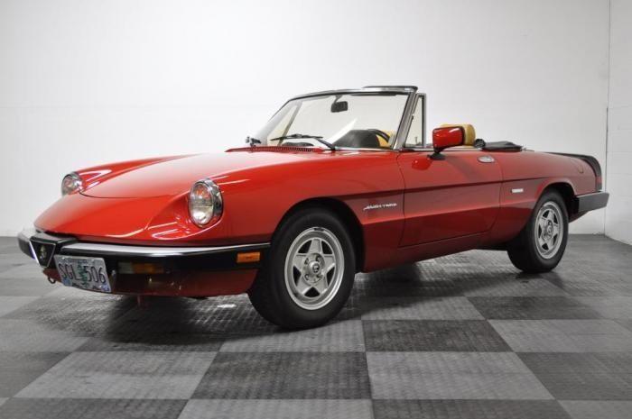 1986 Alfa Romeo Spider Klasik Arabalar Otomobil Antika Araclar