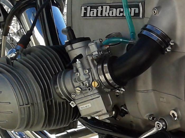 FlatRacer BMW Dell Orto PHM pumper carburettor conversion