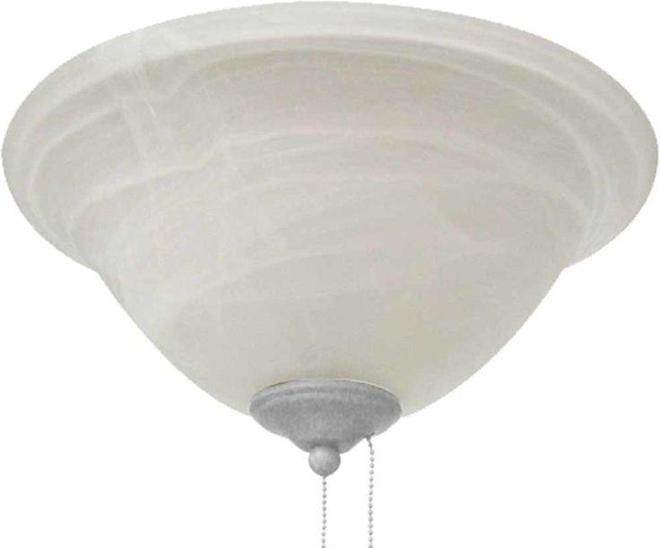 Volume Lighting V0902 Ceiling Fan Light Kit 2 Light with Alabaster Glass Bell Sh White Ceiling Fan Accessories Light Kits Light Kits