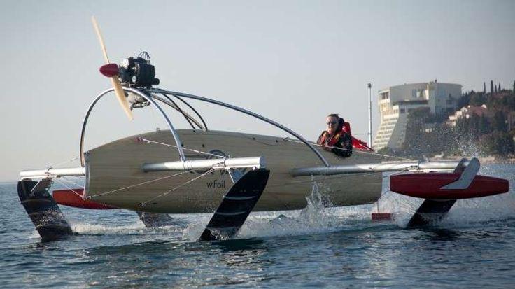 Volo a vela navi elettriche: quadrofoil