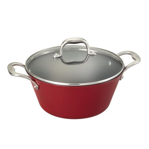 Guy Fieri® 5.5 Quart Red Light Weight Cast Iron Dutch Oven