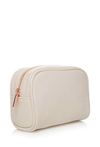 Textured Faux Leather Makeup Pouch | Forever 21 | #beautymark
