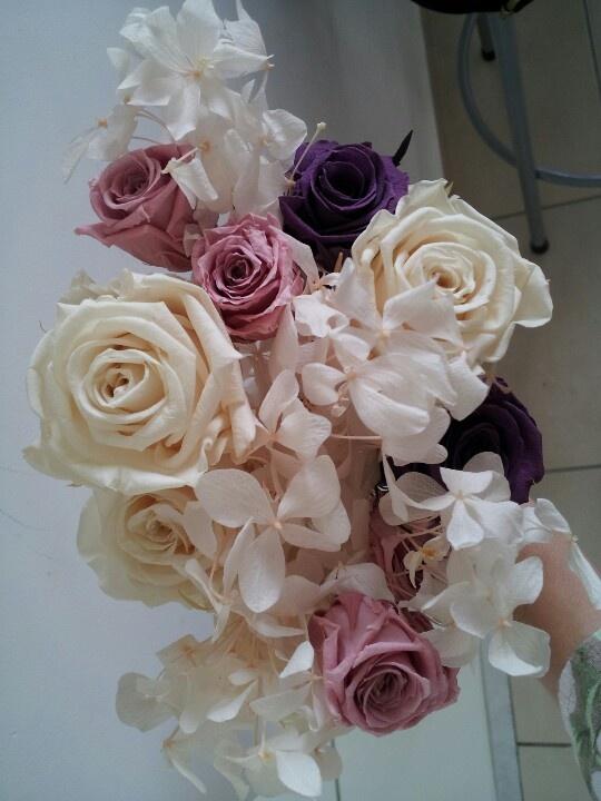 Preparação do Bouquet de flor natural preservada