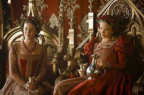 """Joss Stone as a sweet and lovely Anne of Cleves and Tamzin Merchant as giddily gorgeous Katherine Howard in Showtime's """"The Tudors."""""""