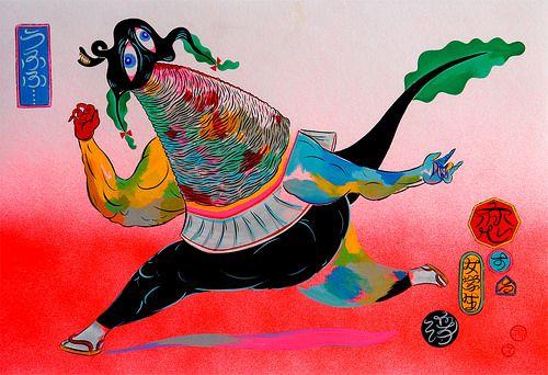 "Preview: Hideyuki Katsumata's ""Hide in my Brain"" at Hellion Gallery | Hi-Fructose Magazine"
