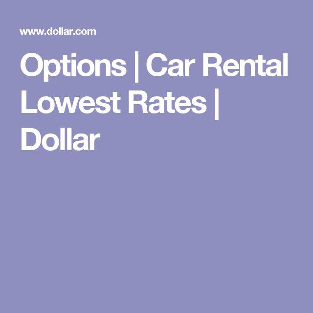 Options | Car Rental Lowest Rates | Dollar