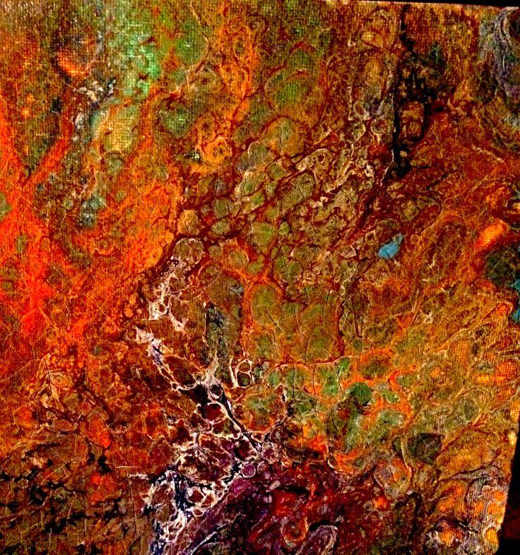 SEASONE - Ist PANEL OF 2 PANELS (FALL) ACRYLIC HAND PAINTED ORIGINAL BY Kathy KUBAY