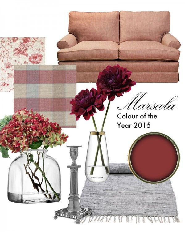 Pantone Colour of the Year 2015 was Marsala, a dusky hue perfect as an accent or going as an all out wall feature! #marsala #colouroftheyear #2015
