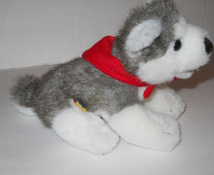 "Build a Bear Lil Kennel Pals Mini Siberian Husky Puppy 6"" Plush Baby Magnet Toy #BuildaBear"