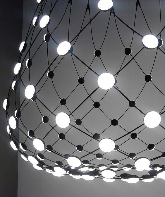 Luceplan hanglamp D86 Mesh door Francisco Gomez Paz   Designlinq