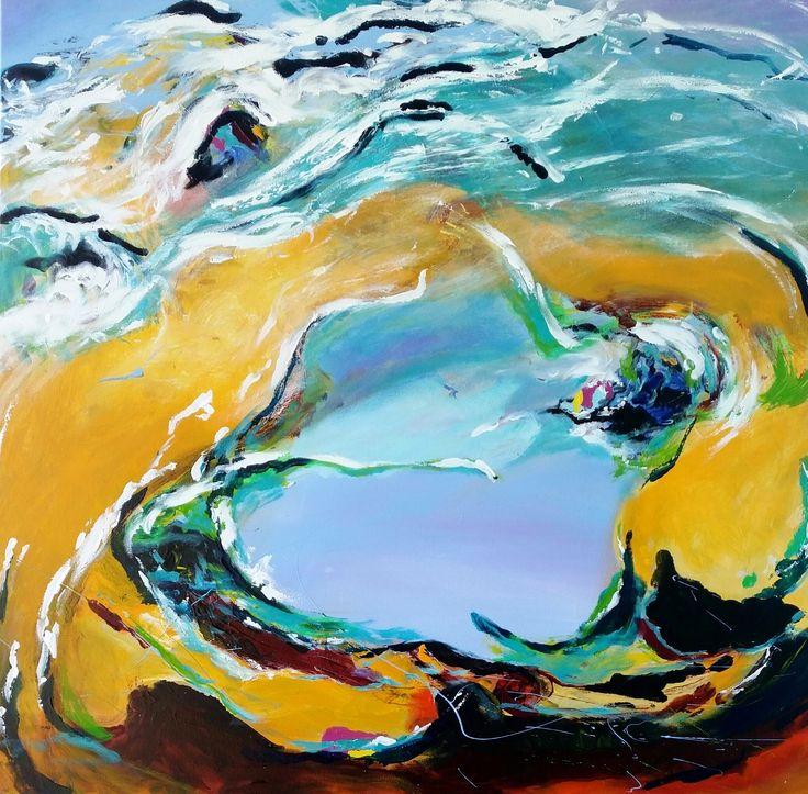 """Tidal"" by Debra Dougherty. Paintings for Sale. Bluethumb - Online Art Gallery"