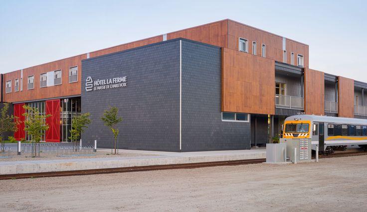 Project: Hotel La Ferme Location: Baie St Paul, Quebec Product: Parklex  Architect: Consortium Hudon & Julien / Coarchitecture, Lemay &  Michaud, St-Gelais Montminy Architectes