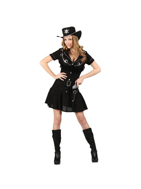 Ladies 14 16 Sexy Gunslingin Cowgirl Western Wild West Party Fancy Dress Costume | eBay