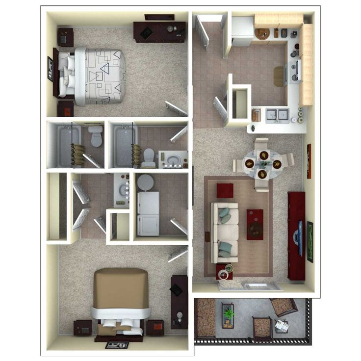 67 Best Images About 3D Floor Plans On Pinterest
