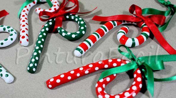 Bastones de navidad que parecen de caramelo bastones - Caramelos de navidad ...