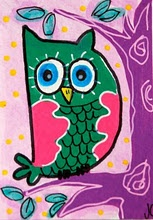 green owl by Jeanette Carlstrom