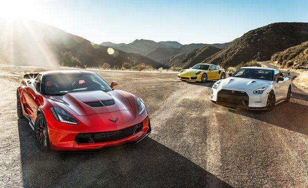 2015 Chevrolet Corvette Z06 vs. Nissan GT-R NISMO, Porsche 911 Turbo S – Comparison Test – Car and Driver