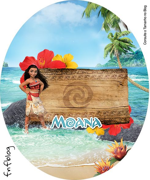 Moana Wrappers Y Toppers Para Cupcakes Para Imprimir