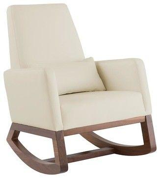 Joya Rocker, Stone Modern Rocking Chairs And Gliders