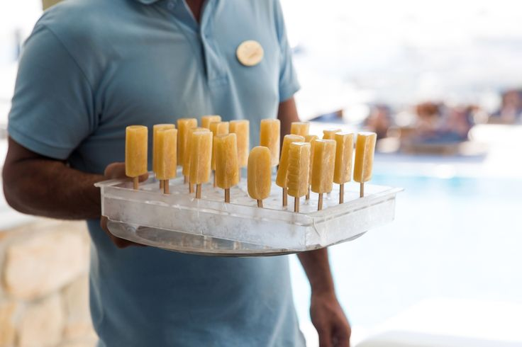 Enjoy some complimentary refreshing popsicles by the pool!