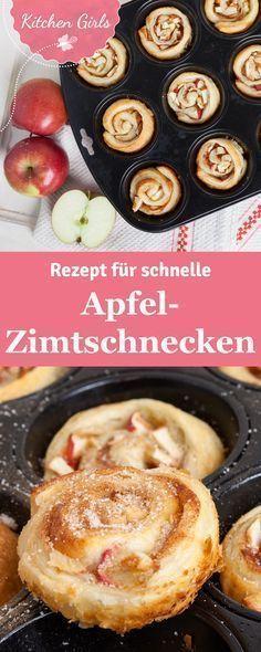 Apfel-Zimtschnecken aus der Muffinform – Julia K