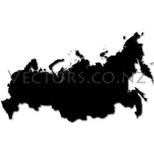 Blank Vector Map of the Russian Federation