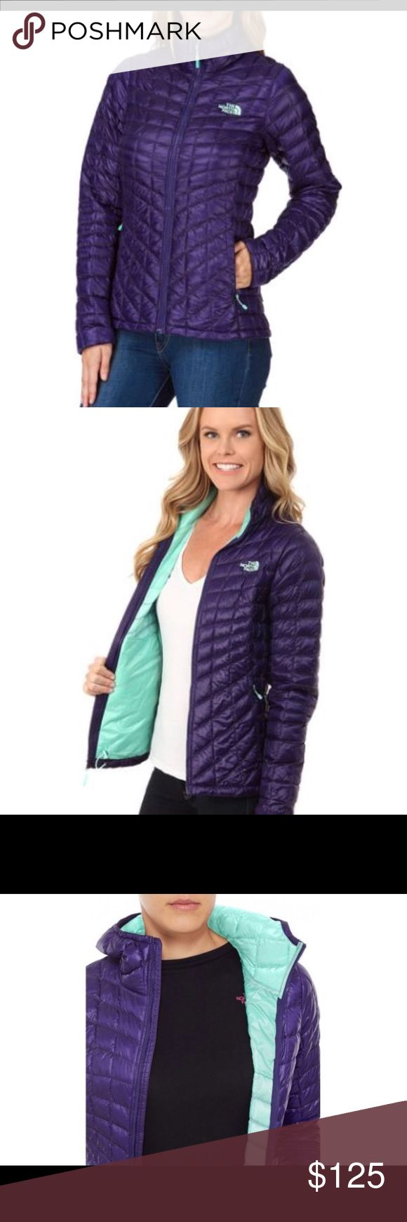 The North Face Thermoball jacket Gorgeous garnet/turquoise North Face Thermoball jacket. Excellent condition and such a great staple piece. Hoodless version. The North Face Jackets & Coats