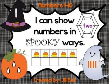 Halloween Numbers 1-10: I can show numbers in Spooky ways.  Included: pocket chart number cards and student booklet.