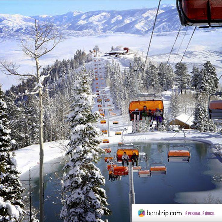 Depois de esquiar em Utah você pode apreciar uma comida bem quentinha em um restaurante local! Planeje sua viagem com os especialistas em Utah no www.bomtrip.com, o roteiro é SEU.