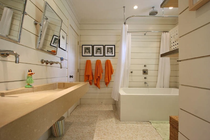 Love The Trough Sink And Freestanding Tub Shower Combo Bathrooms Pintere