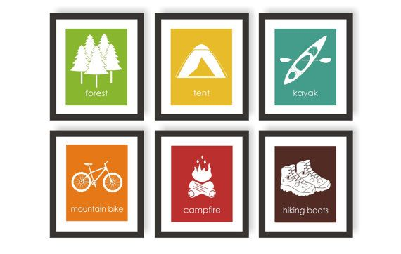 Outdoor Adventure Art  Forest Decor Camping Decor by twowhiteowls
