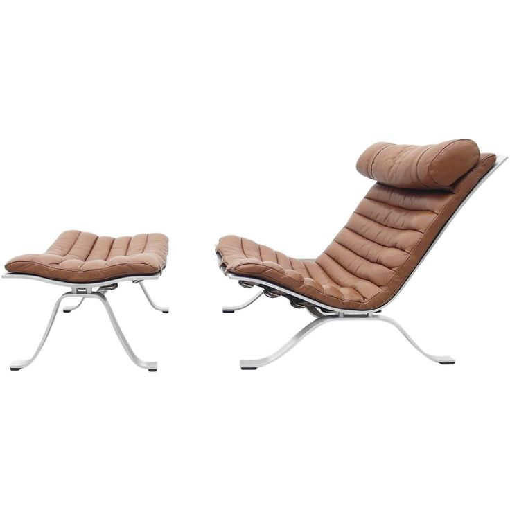 Arne Norell Ari Chair with Ottoman Produced by Arne Norell AB, Sweden 1
