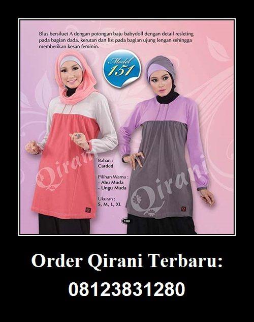Qirani Blouse Model 151, Hubungi : HUBUNGI :  Whatsapp : +62 812-3831-280  SMS : +62 812-3831-280 BBM : 5F03DE1D