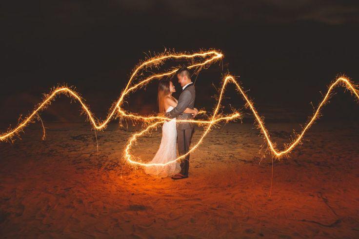 Ocean Edge Jamaica Wedding. Destination Wedding, Sparkler, Sparkler Wedding, Slow Motion Sparkler, Beach Wedding