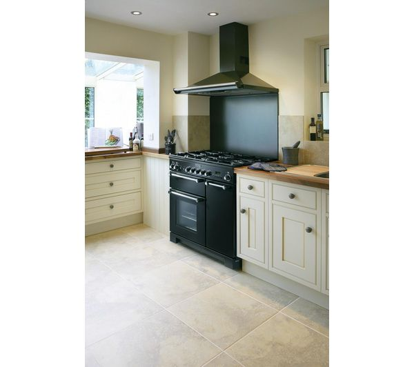 Buy RANGEMASTER Kitchener 90 Dual Fuel Range Cooker - Black | Free Delivery | Currys
