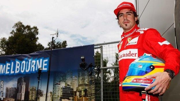 Ferrari's Fernando Alonso optimistic for title challenge.