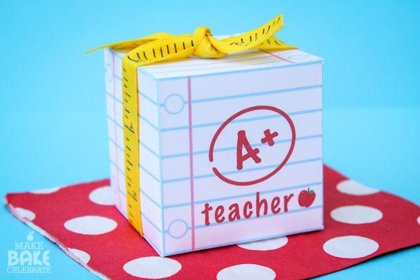 Teacher Appreciation Printable Box